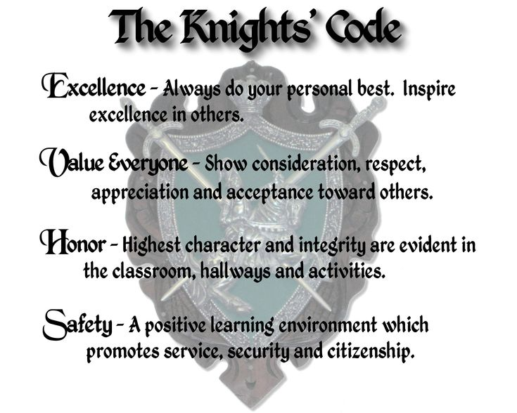 "Teach a son the ""The Knight's Code"""