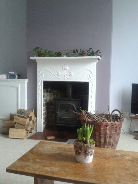 Country lounge with farrow and ball brassica and calluna www.waringsathome.co.uk