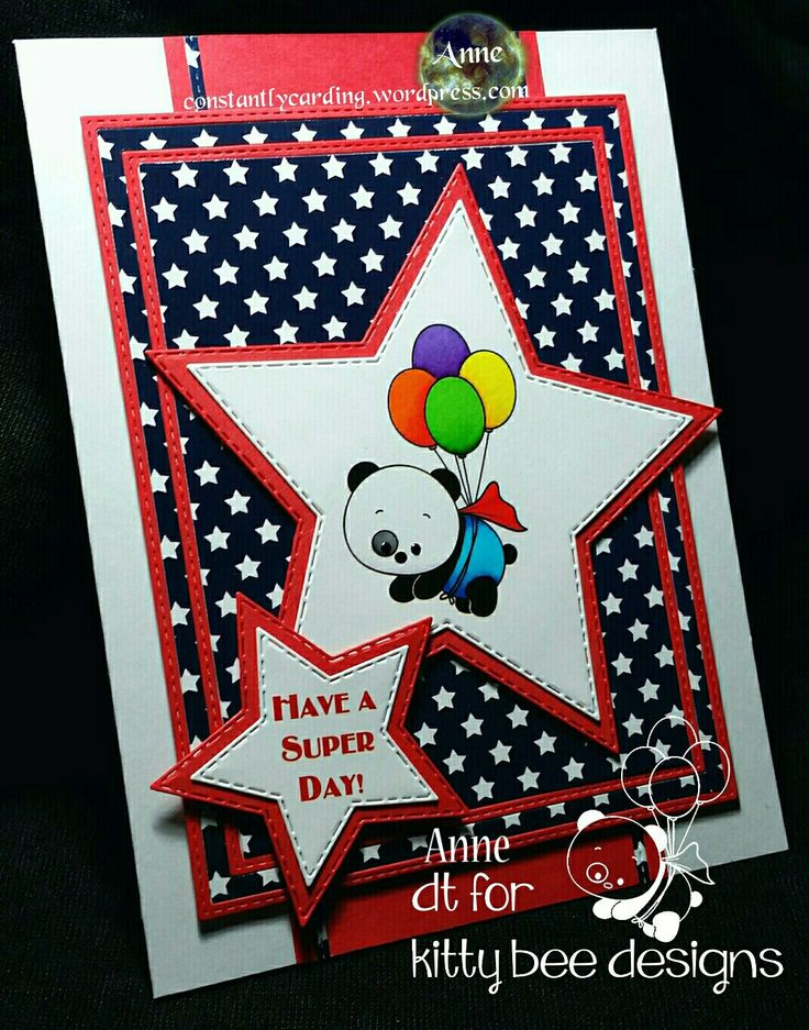 Kitty Bee Designs DT  Spotlight - Superhero Panda + Avery Design and Print Free Software used for crafts