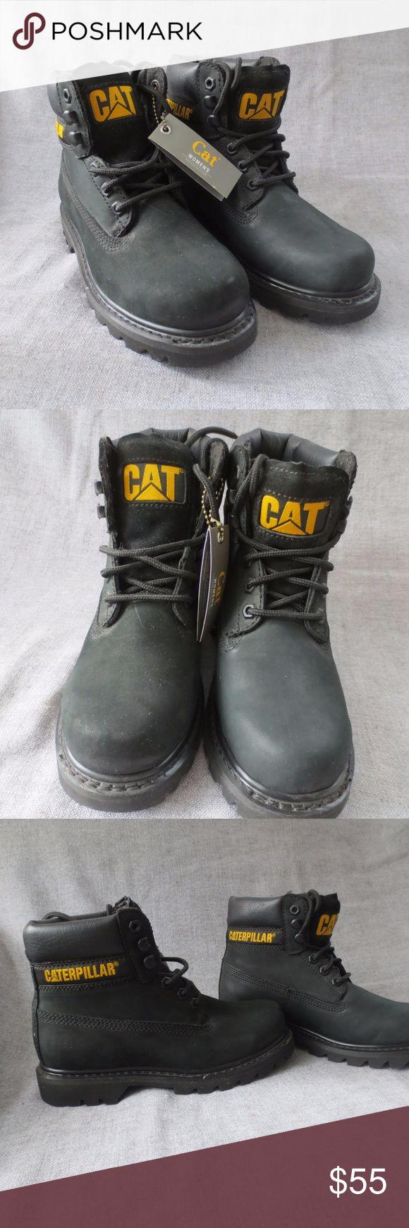 CATERPILLAR CAT Women's Colorado Boot - Size 6 CATERPILLAR brand women's Colorado Boot - all black with yellow CAT logo. Size 6 Never Worn Caterpillar Shoes Combat & Moto Boots