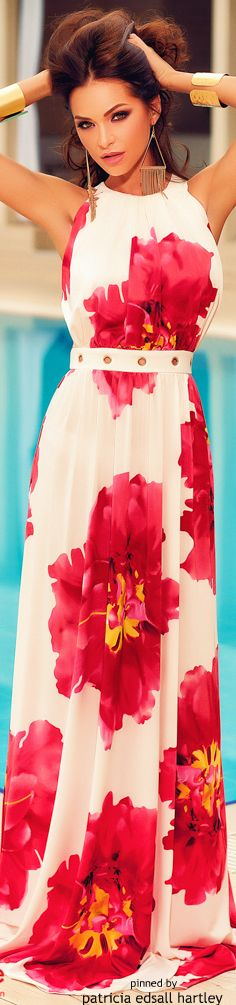 Atmosphere Fashion maxi floral summer dress women fashion outfit clothing style apparel @roressclothes closet ideas