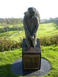 Ben Hogan Statue At Riviera Country Club In Pacific Palisades, California.