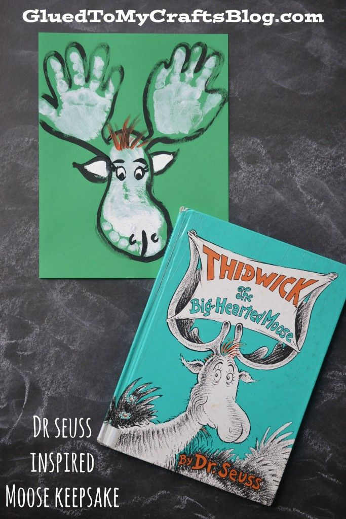 Dr Seuss Moose Handprint & Footprint Keepsake