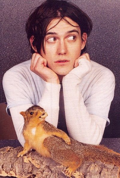 Connor Oberst. With a squirrel.
