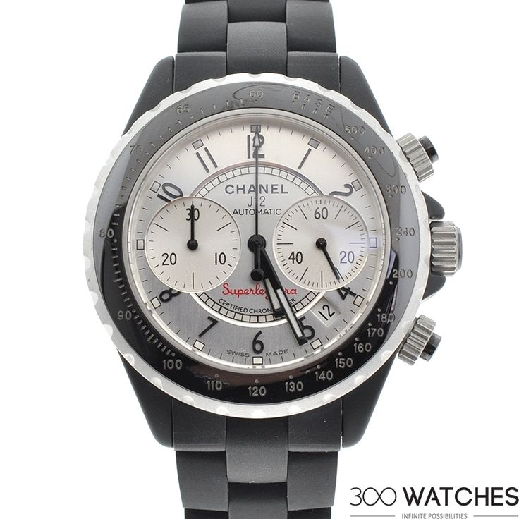 Mens Chanel Superleggera Black Ceramic Automatic Chronograph | chronograph watches for men | 300watches