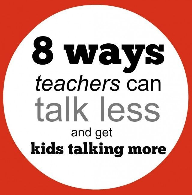 Do you feel like you NEVER STOP TALKING at school? These tips help you turn the talking (and the learning) over to students.