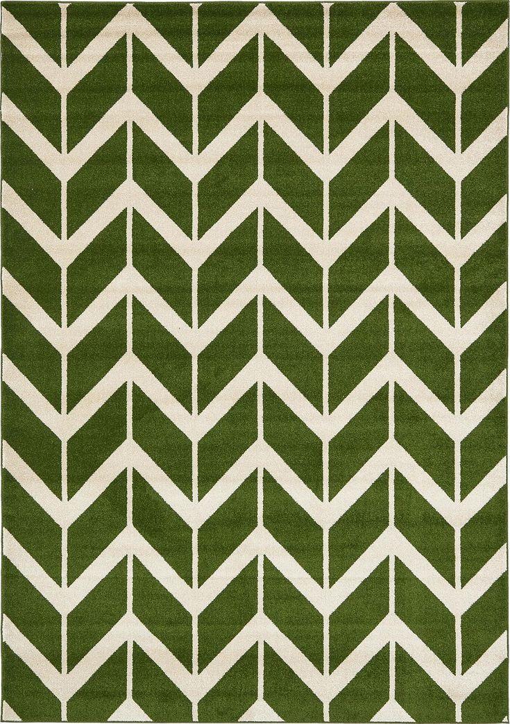 Green 7' x 10' Chevron Rug | Area Rugs | eSaleRugs
