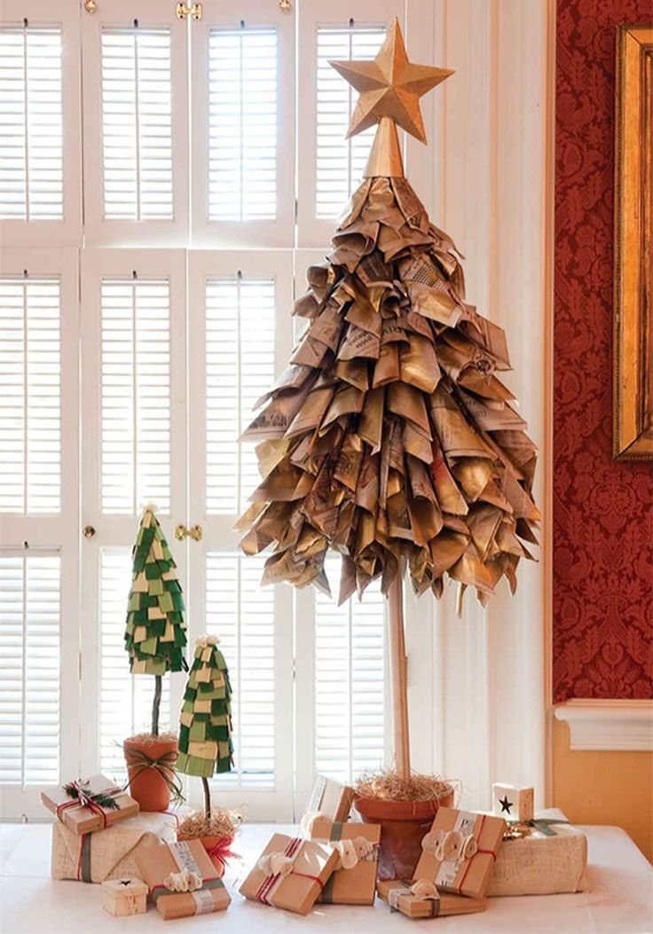 creative christmas trees newspaper