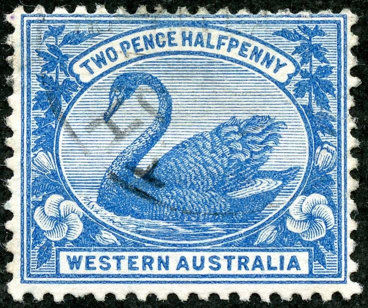 "Western Australia  1901 Scott 75 2½d blue, Typographed Wmk 83 ""Crown and W A"""