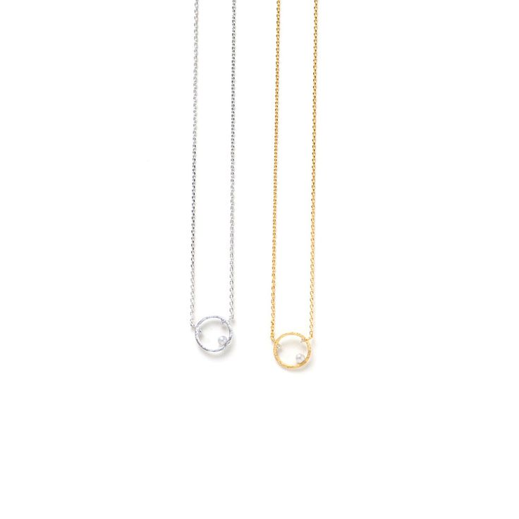 Ellipsis Necklace - Silver from Lover's Tempo