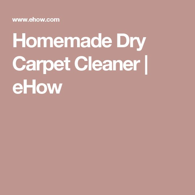 Homemade Dry Carpet Cleaner   eHow