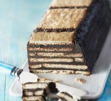 Recette - Gâteau au chocolat petit-beurre et chocolat sans cuisson - Notée 4/5 par les internautes
