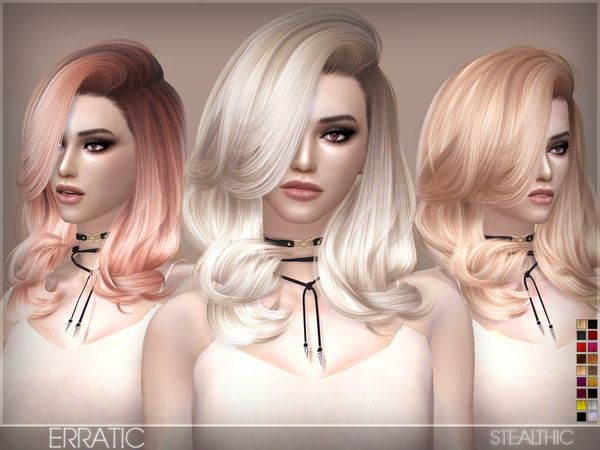 The Sims Resource: Stealthic - Erratic hairstyle • Sims 4 Downloads