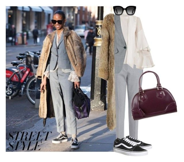 """""""Street Style #13"""" by pat-nicolle ❤ liked on Polyvore featuring Chloé, Alexander McQueen, Vans, Louis Vuitton, Gucci, Christian Dior, London, fashionWeek and 2018"""