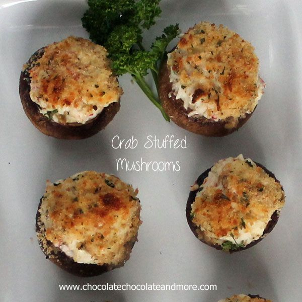 TweetCrab Stuffed Mushrooms-with a hint of hot sauce to give them just a little kick One of the greatest things about being a food blogger is I can make anything I want at any time of the day. And claim it's for the blog. It's how I justified having Crab Stuffed Mushrooms for lunch the …