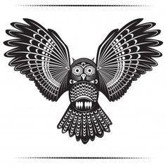 ideas about Tribal Owl Tattoos on Pinterest   Owl Tattoos Owl Tattoo ...