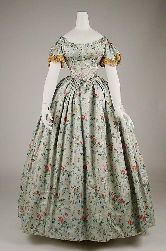 Evening dress Date: 1850s