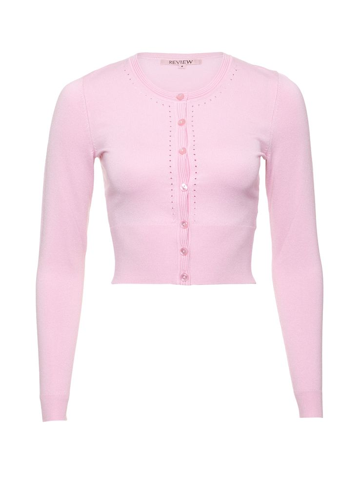 Maggie Long Sleeve Cardi   Blush   Cardigans