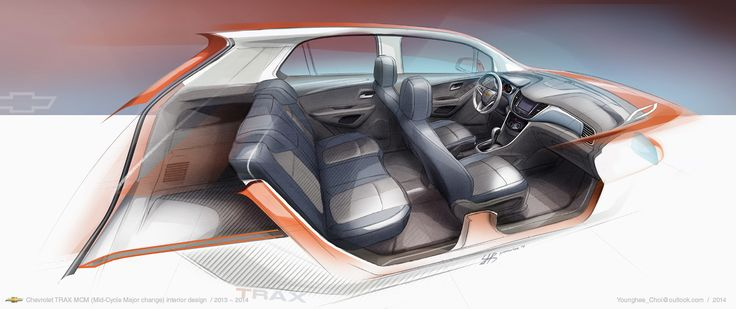 2017 Chevrolet TRAX MCM Interior design lead by Younghee Choi