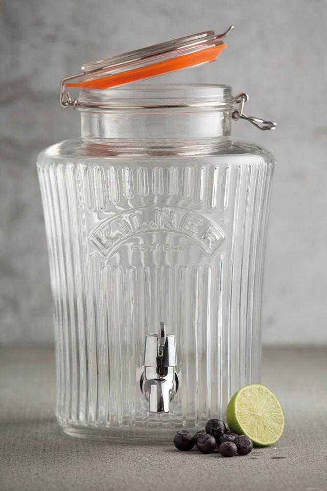 KILNER Vintage skleněný dávkovač (skleněný soudek) nápojů 8l / Kilner Vintage drink dispenser