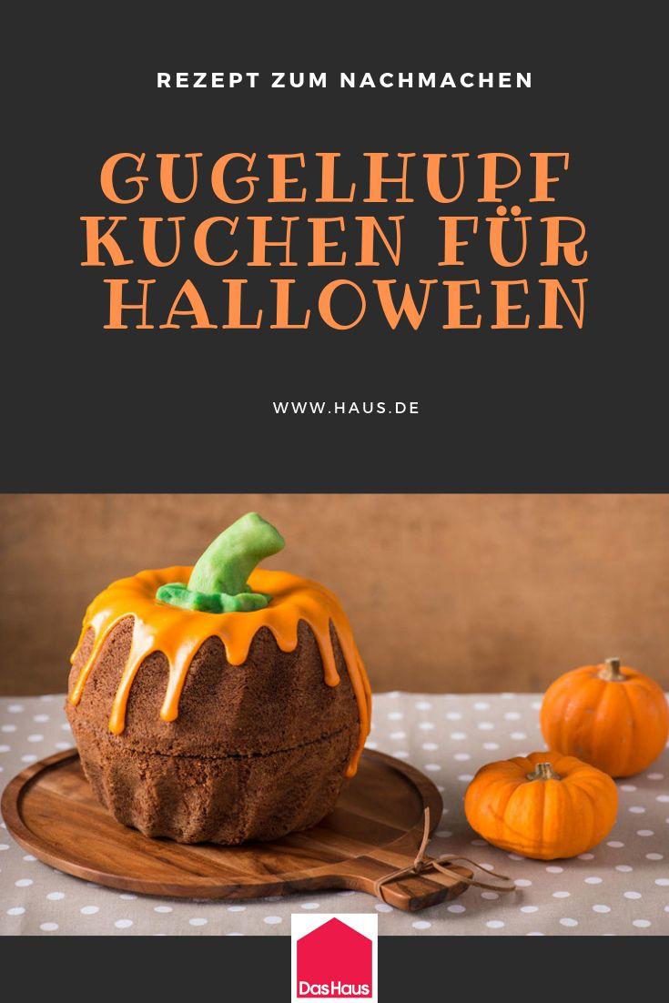 Ein Gugelhupf im Halloween-Look. Hier ist das Rezept. # Halloween # Kürbis #Selberma …   – Halloween: Deko und Rezepte