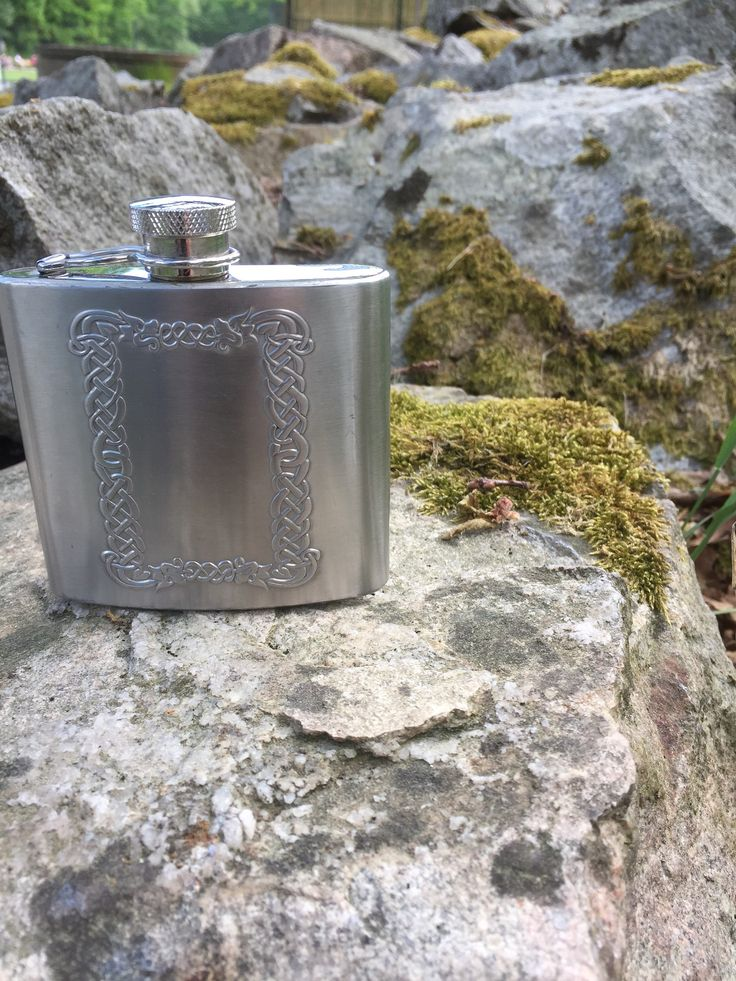 4oz /flask/Norwegian/viking/folk art/pattern by WifinpoofVintage on Etsy