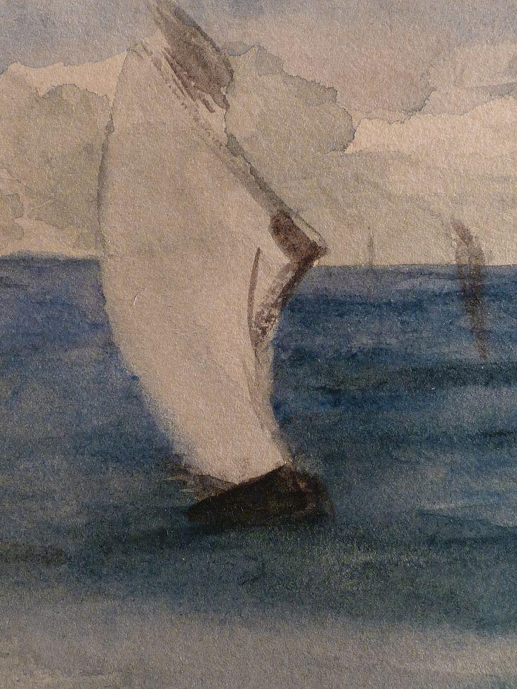 """MANET Edouard - Marine (drawing, dessin, disegno-Louvre RF31283) - Detail 10  -  TAGS / drawing dessin figure figures people art painter peintre details détail détails """"dessins 19e"""" """"19th-century drawing"""" croquis étude study sketch sketches painting paintings peinture peintures """"peinture 19e"""" """"19th-century paintings"""" """"19th century"""" """"details of painting"""" """"details of paintings"""" watercolour watercolor aquarelle seascape marine mer sea """"sea sight"""" sea ship boat blue bleu"""