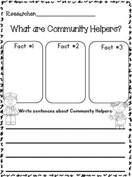 """ON SALE NOW May 27th and Math 28th!!!! Community Helpers """"Research"""" Writing Unit w/ Literacy+Math~Freebie in the download preview! This is 178 pages!!! 12 different Community Helpers with TONS of writing templates! Full of Cute Whimsy Clips clip art!"""