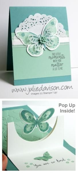 Wonderful Wings Half Circle Pop Up card by juls716 - Cards and Paper Crafts at Splitcoaststampers