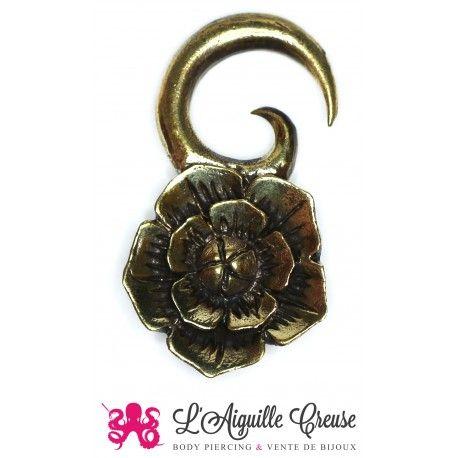 Poids en bronze fleur
