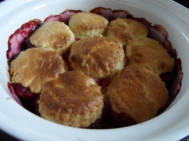 Recipe for Apple, blueberry and Cranberry cobbler by Craft with Ruth Cartwright