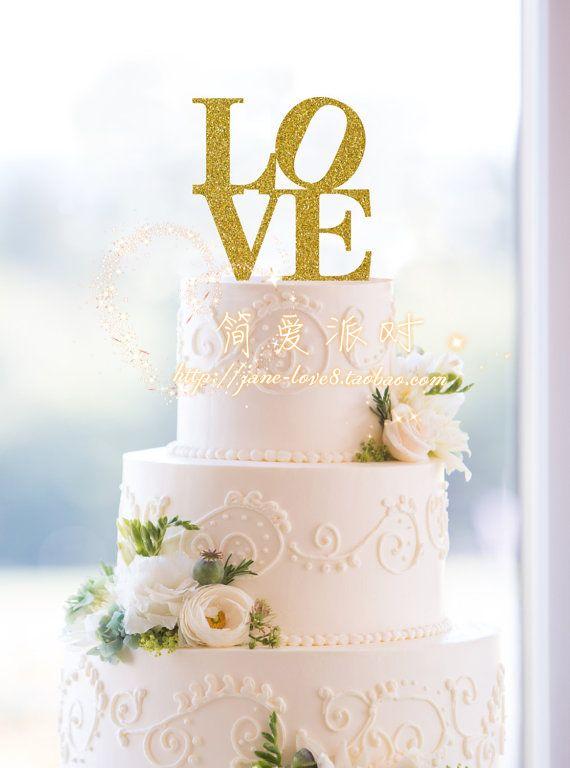 Блестящий Любовь Торт Ботворезы выбирает украшения для свадьбы сувениры Украшения поставки купить на AliExpress