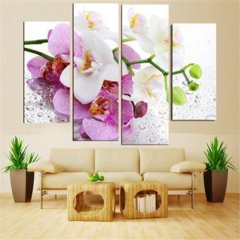 Set de Cuadros Decorativos Florales 4 piezas