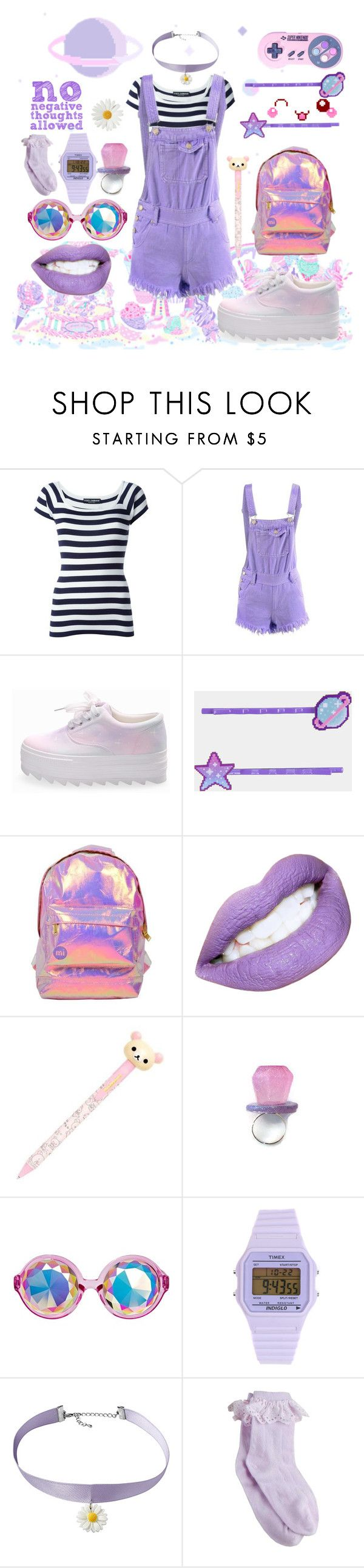 """wow, I'm dazed"" by liz5463 ❤ liked on Polyvore featuring cutekawaii, Dolce&Gabbana, Miss Selfridge and Timex"
