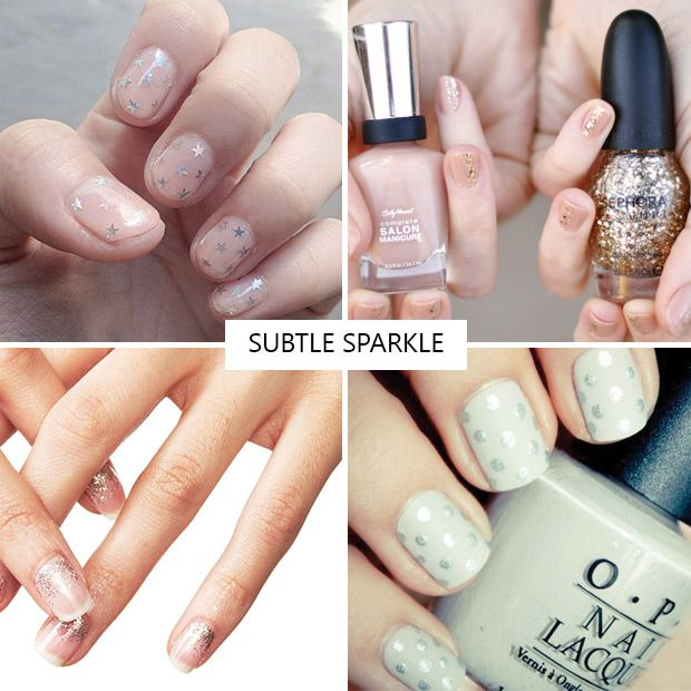 Subtle Sparkle nail inspiration | see all the nail trends for 2016 at www.onefabday.com