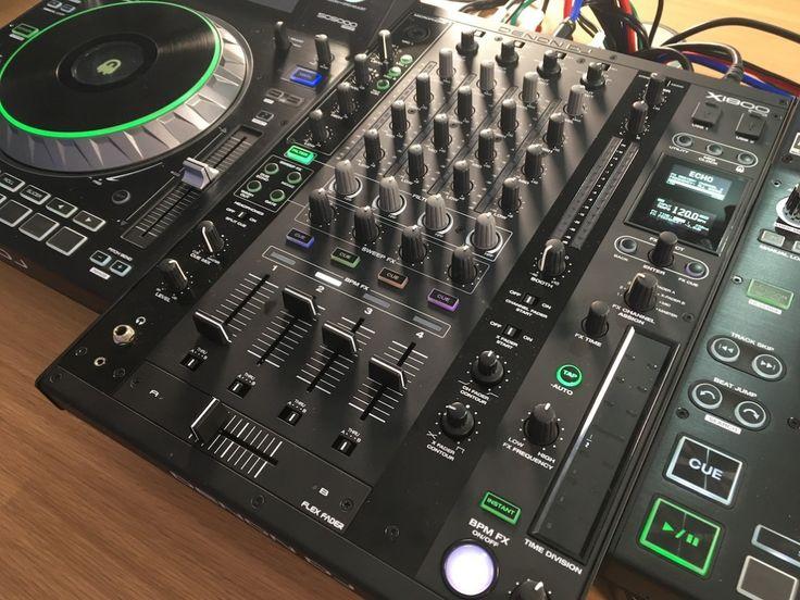 Denon X1800 mixer alongside Denon SC50000 Media Players.