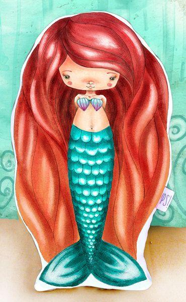 Muñeca Sirena -  Mermaid doll de JessicaIlustradora en Etsy