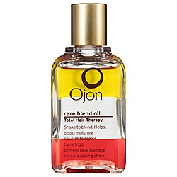 7 botanical oils make 1 multitasking hair elixir that moisturizes, repairs, de-frizzes, protects, and adds luster. Just one drop makes a world of difference. Ojon Rare Blend Oil Total Hair Therapy #Sephora #HotNow