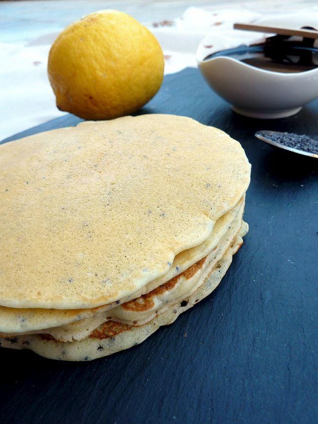 Pancakes au citron et pavot