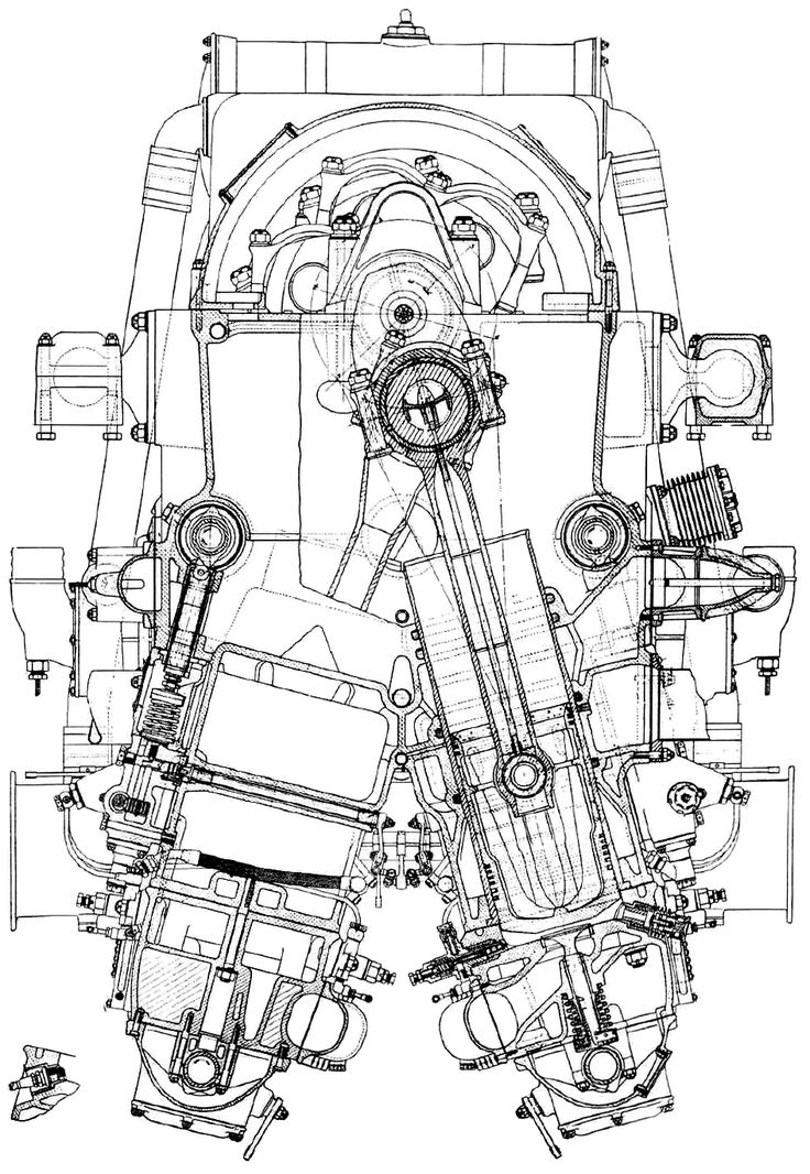 7 best blueprints images on pinterest technical drawings cutaway the deschamps v 3050 was an attempt to create a powerful diesel aircraft engine the inverted engine produced hp kw in but the lack of funds prevented the malvernweather Images