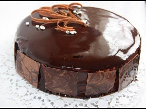 glase de chocolate espejo - YouTube
