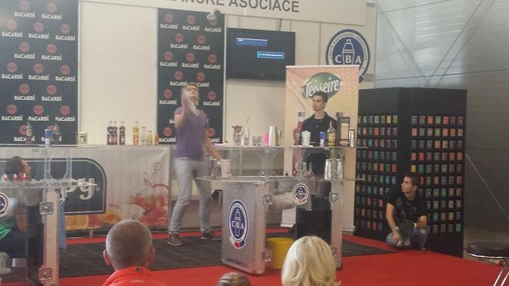 The Barman Association Convention Flairtending Competition in Prague, Czech Republic featuring Teisseire