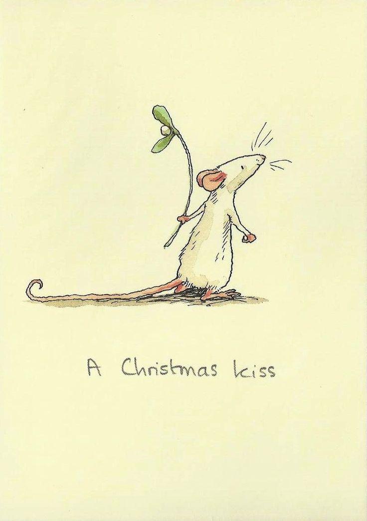 "Christmas miseltoe kiss  mouse   ;- )  http://www.staerntaler-thun.ch/shop/index.php http://www.Starntaler-thun.ch Grusskarte ""A Christmas kiss"" Mouse holding  mistletoe  a Christmas kiss http://www.staerntaler-thun.ch/shop/Grusskarten-Geburtstag-Hochzeit-Baby-Geburt-Liebe-Klappkarten-Postkarten-Karten/Grusskarten-Anita-Jeram/Grusskarte-Jeram-Weihnachten-Christmas-Kiss.html"