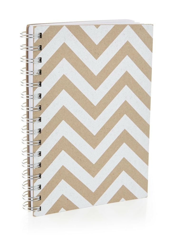 White chevron print journal from Flowermill (R95)