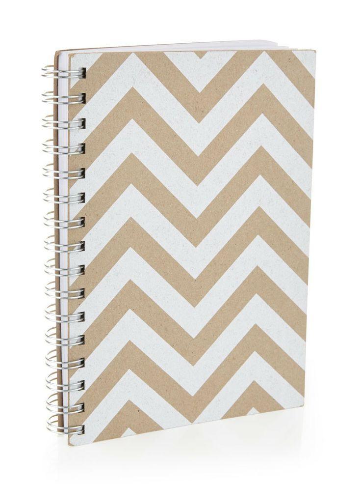 White chevron print journal from Flowermill (R95)