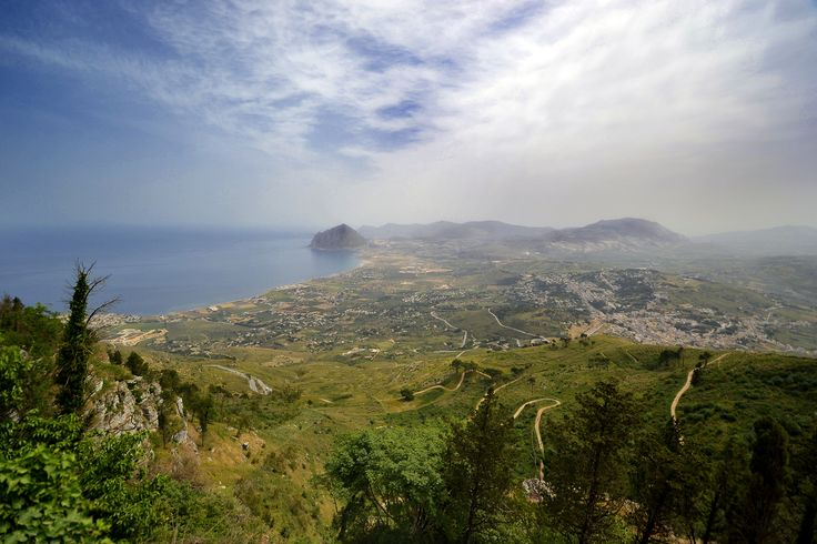 https://flic.kr/p/fhgrh5 | View From Erice | The view from Erice towards the Monte Cofano in Sicily