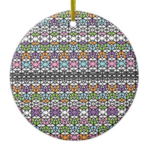 Paradigm Snowflakes Ceramic Ornament