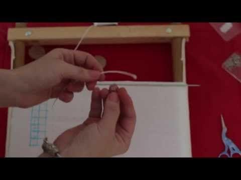Вышивка крестом - натяжка канвы на раму - YouTube