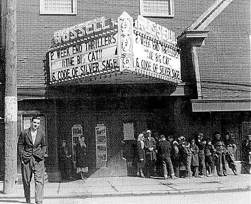 Russell Theatre, Glace Bay, Cape Breton, 1950 http://www.capermemories.com/2010/04/russell-theatre-1950s-glace-bay-cape.html