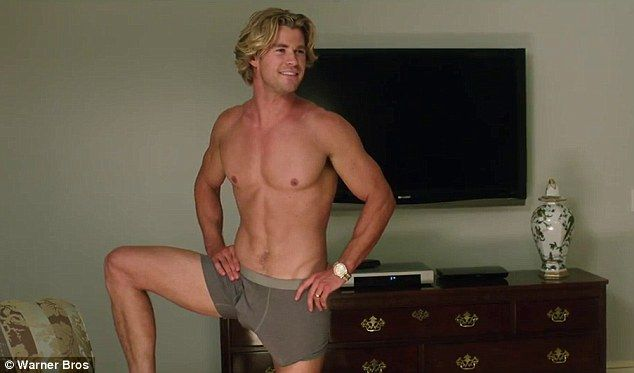 Chris Hemsworth Shows Off Ripped Body And A Big Bulge In